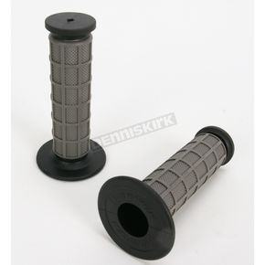 Driven Racing Gray Full Waffle MX Grips - D533GY