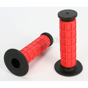 Driven Racing Red Full Waffle MX Grips - D533RD