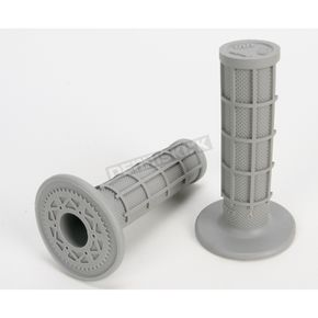 ODI Gray Half Waffle MX Single-Ply Grips - H01RFG