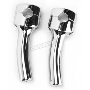 LA Choppers Chrome 5 3/4 in. Mohawk Risers w/1 in. Pullback for 1 in. Handlebars - LA-7401-05