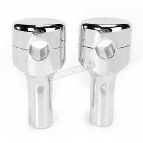 LA Choppers Chrome 3-3/4 in. Smooth Risers for 1 in. Handlebars - LA-7402-04