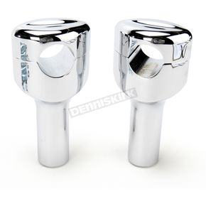 LA Choppers Chrome 4 in. Mohawk Hefty Risers for 1-1/4 in. Handlebars - LA-7404-04