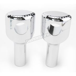LA Choppers Chrome 4 in. Drilled Hefty Risers for 1-1/4 in. Handlebars - LA-7405-04