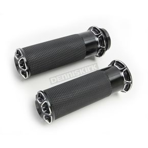 Black Bevelled Fusion Grips - 07-329