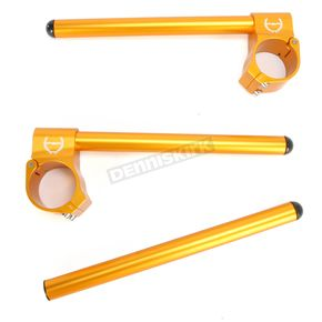 Powerstands Racing 51mm Gold Clip-On Handlebars - 00-00186-23