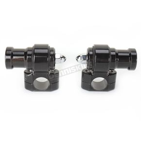 NYC Choppers Gloss Black Dogbone Handlebar Risers - NYC-26-BK