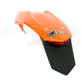 UFO Orange KTM Enduro Rear Fender w/Light - KT04027-127