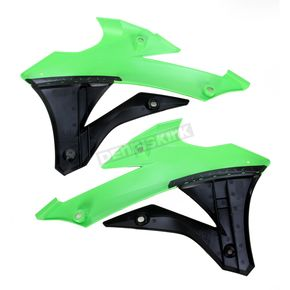Acerbis Green/Black Radiator Shrouds  - 2374071089