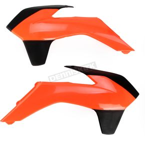 Acerbis Fluorescent Fluorescent Orange/Black Radiator Shrouds - 2314254617