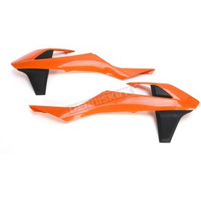 UFO KTM Orange Radiator Covers - KT04061-999