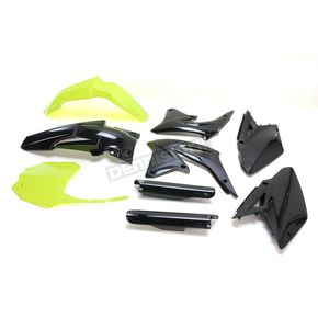 Acerbis Fluorescent Yellow/Black Full Replacement Plastic Kit - 2198045137