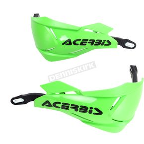 Acerbis Green/Black X-Factory Handguards - 2634661089