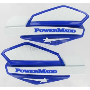 PowerMadd Star Series Blue/White Handguard System  - 34221