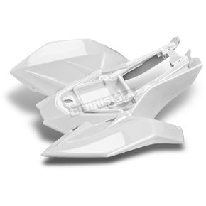 Maier White Carbon Fiber ATV Rear Fender - 17801-31