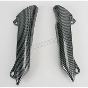 Maier High-Gloss Black Carbon Fiber-Look Upper Frame Covers - 9909430