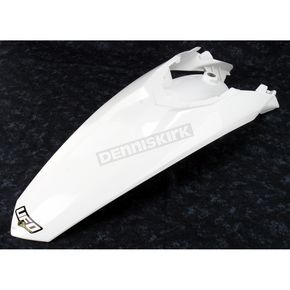 UFO KTM White MX Rear Fender - KT04024-041