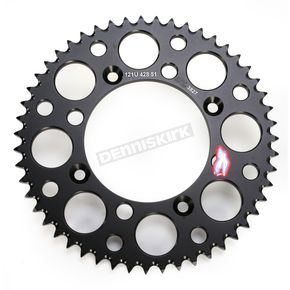 Renthal 51 Tooth Aluminum Rear Sprocket - 121U-428-51GPBK
