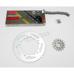 RK Quick Acceleration 520GXW Chain Kit with Light Weight Sprockets - 3106-019S