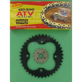 Regina 520 Quad Z-Ring Chain and Sprocket Kit - 5QUAD094KHO025