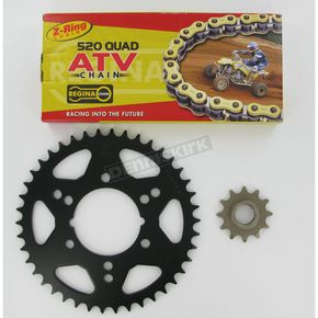 Regina 520 Quad Z-Ring Chain and Sprocket Kit - 5QUAD088KPO0