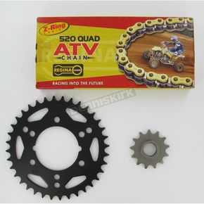 Regina 520 Quad Z-Ring Chain and Sprocket Kit - 5QUAD076KPO0