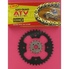Regina 520 Quad Z-Ring Chain and Sprocket Kit - 5QUAD092KPO0