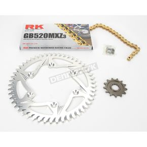 RK GB520MXZ Chain and Sprocket Kit - 4042-068ZG