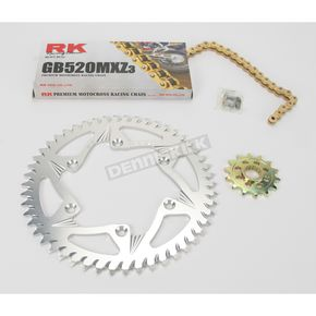 RK GB520MXZ Chain and Sprocket Kit - 3042-058ZG