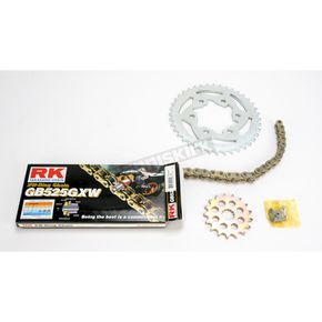 RK Quick Acceleration GB525GXW Chain Kit with Light Weight Sprockets - 2108-060WG