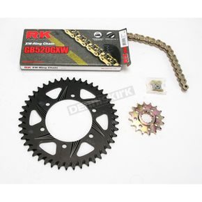 RK Quick Acceleration GB520GXW Chain Kit with Light Weight Sprockets - 4107-041RK