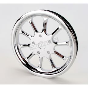 Performance Machine Image Hooligan Chrome-Forged 1 in. Wide Aluminum Pulley w/66 Teeth - 0093-5066HOOL-C