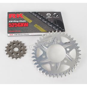 RK 525GXW Chain and Aluminum Sprocket Kit - 2108-044A