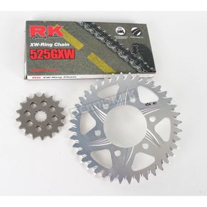 RK 525GXW Chain and Sprocket Kit - 2108-064A