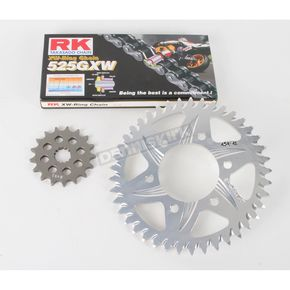RK 525GXW Chain and Aluminum Sprocket Kit - 2108-084A