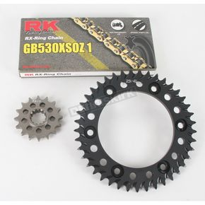 RK GB530XSO-Z1 Chain and Black Sprocket Kit - 1102-044AK