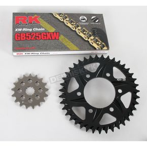 RK GB525GXW Chain and Black Sprocket Kit - 2108044AK