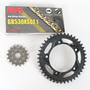 RK GB530XSO-Z1 Chain and Black Sprocket Kit - 3106-014AK