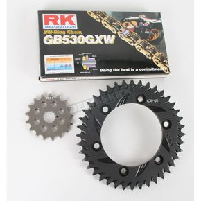 RK GB530GXW Chain and Black Sprocket Kit - 3136-994AK