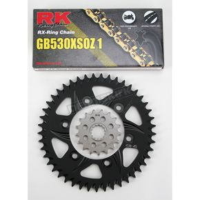 RK GB530GXW Chain and Black Sprocket Kit - 4107-044AK