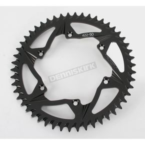 Vortex 50 Tooth Rear Aluminum Black Sprocket - 422K-50