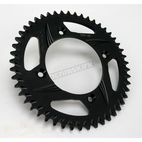 Vortex Rear Aluminum Black Sprocket - 505K-49