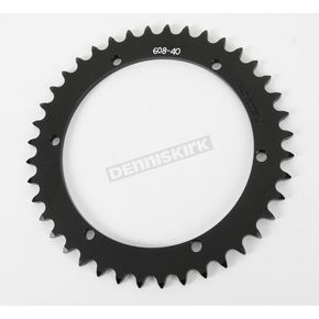 Vortex 40 Tooth Rear Aluminum Black Sprocket - 608K-40