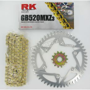 RK GB520MXZ Chain and Sprocket Kit - 4042-998ZG