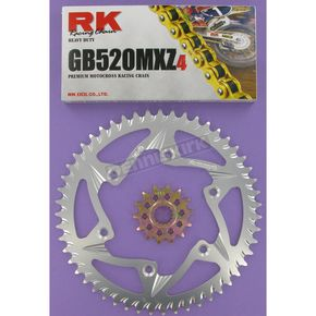 RK GB520MXZ Chain and Sprocket Kit - 5022-968ZG