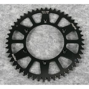 Sunstar 50 Tooth Black Anodized Rear Works Triplestar Aluminum Sprocket - 5-357750BK