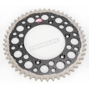 Renthal 49 Tooth Black TwinRing Heavy-Duty Sprocket - 1230-520-49GPBK