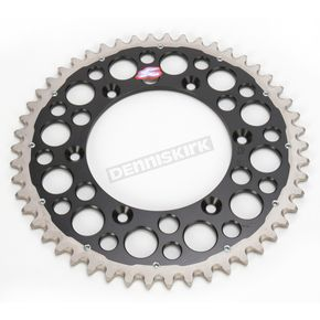 Renthal 50 Tooth Black TwinRing Heavy-Duty Sprocket - 1230-520-50GPBK