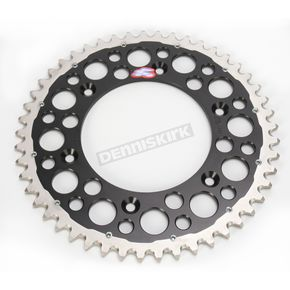 Renthal 49 Tooth Black TwinRing Heavy-Duty Sprocket - 1540-520-49GPBK