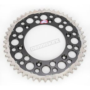 Renthal 48 Tooth Black TwinRing Heavy-Duty Sprocket - 2240-520-48GPBK
