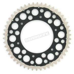 Renthal 50 Tooth Black TwinRing Heavy-Duty Sprocket - 2240-520-50GPBK